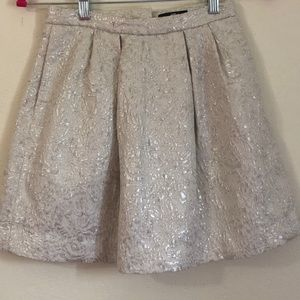 gold and silver skirt